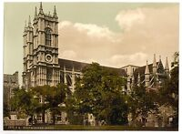 4 Victorian Views Westminster Abbey Buckingham Palace Guards Repro Old Photos