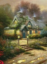 "Thomas Kinkade ""TEACUP COTTAGE"" Hidden Country Home Fence BOXLESS Puzzle *100%*"