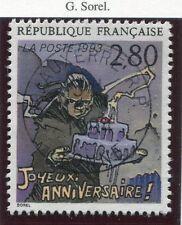 STAMP / TIMBRE FRANCE OBLITERE N° 2839 BD BONNE FETE