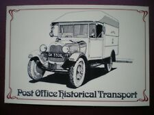 POSTCARD ROYAL MAIL FORD AA (250 CU FT) MAIL VAN - GK3306 FOR THE GPO IN 1930