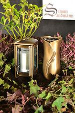 Grablampe   Grablaterne   Grabschmuck   Grabvase im Set aus Messing ->NEU<-