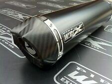 Aprilia RSV Mille 1000 2004-2008 Pair of Black Round Carbon Outlet Exhausts Cans