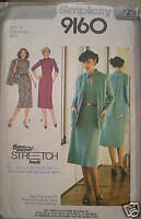 Vintage Simplicity SEWING Pattern Dress Unlined Jacket UNCUT