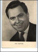 DDR Echtfoto Porträt-Postkarte Film Bühne Schauspieler Actor Jiri POPPER 1964