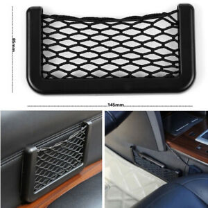 Car Interior Body Edge Elastic Net Storage Mesh Phone Holder Accessories Black
