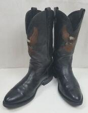 HARLEY DAVIDSON 8600 COWBOY LEATHER BLACK BOOTS USA Made MEN'S SIZE: 11.5 EE