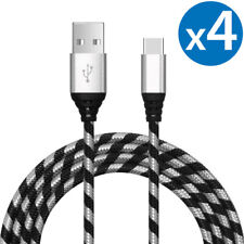 4x USB-C USB Type C Fast Charge & Sync Cable For Samsung Galaxy S8 S9 S10 Note 8