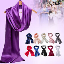 Ivory Champagne Navy Satin Bridal Bridesmaid Wedding Prom Shawl Stole Wrap Scarf
