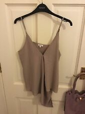 River Island Taupe Nude Chiffon Style Layered Vest Top Size 10