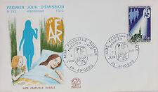 ENVELOPPE PREMIER JOUR - 9 x 16,5 cm - ANNEE 1971 - L'AIDE FAMILIALE RURALE