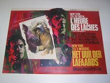 INCIDENT Belgian movie poster 1967 MARTIN SHEEN RAY ELSEVIERS Art