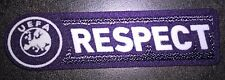 Patch Europe RESPECT pour maillot foot UEFA Europa et Champion's League  09/10