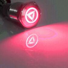 16mm 12V LED Licht tastender Knopf Metallschalter Rot Lautsprecher Gefahr HY