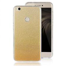 COVER Custodia Glitter GRADIENTE Morbida Silicone per Huawei P8 LITE 2017 Oro