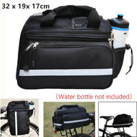 1PCS Bike Motorcycle Rear Rack Bag Tail Seat Trunk Pack Storage Handbag Pannier