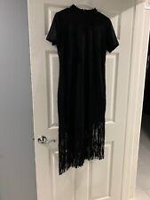 Latin Dress Salsa Tango Cha cha Ballroom Dance Fringe Tassel Dress Black