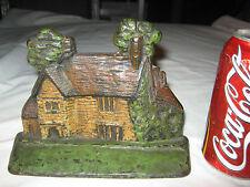 Antique Hubley House w/ Yard & Trees Cast Iron Sculpture Door Statue Doorstop