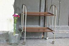 Vintage Drinks Trolley Antique Bar Cart Folding Coffee Table Brown Serving Table
