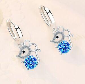 Ohrringe Ohrstecker Mädchen Kinder 925 Echt Silber Mädchen Kinder Geschenk Maus