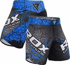 RDX MMA Shorts Gym Grappling Boxing Wear Blue Training Cage Fight Mens