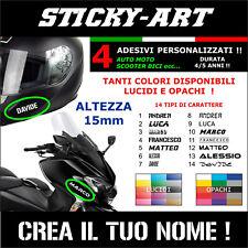 4 Nomi adesivi 15mm Bici Casco Moto Auto Adesivo