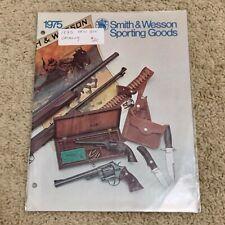 1975 VINTAGE SMITH & WESSON GUN CATALOG S&W rare REVOLVER HANDGUN