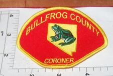 Defunct-Bullfrog County Nevada Coroner Shoulder-Patch State Shape in Design
