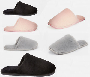 LADIES WOMENS WINTER WARM FAUX FUR LINED BEDROOM HOUSE SLIPPERS SHOES SIZE