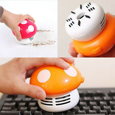 New Ritzy Cute Mini Mushroom Corner Desk Table Dust Vacuum Cleaner Sweeper