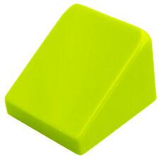 Lego 10x Tuiles en Béton Citron Vert (Lime ) 30 1 x1x 2/3 Bloc Incliné 54200 Neu