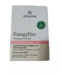 New !!Arbonne Ginseng Energy Fizz Sticks - STRAWBERRY#2113 Freeshipping New