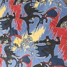 Batman Robin Mr Freeze Twin Flat Bed Sheet 1996 DC Comics Vtg Animated Cartoon