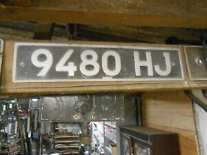VINTAGE OLD CAR NUMBER PLATE 9480 HJ