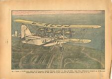 Big Plane Avion Scylla Company Imperial Airways London-Paris 1934 ILLUSTRATION