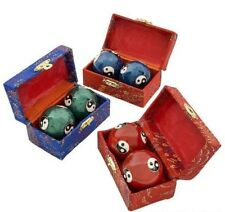 "Yin Ying Chinese Health Stress Relief Therapy Balls Baoding 1.5"" Each Set of 2"