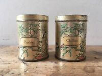 2x Vintage DODO designs, Spice Canisters