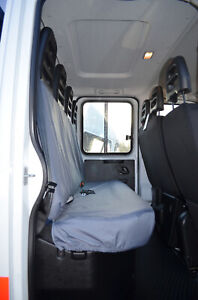 Grey Tailored Waterproof Seat Covers Back Rear Quad for Iveco Daily 2014+