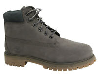 Timberland Premium 6 Inch Youth Kids Lace Up Grey Nubuck Leather Boots A1A6Q D82