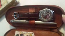 "Fossil Men's Mickey Mouse ""The Aviator"" Ltd.Edition Quartz Watch & Pen Set"