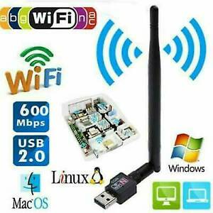 1200M WiFi Adapter WLAN USB 3.0 Stick 2,4/5GHz Dual Band Antenna Dongle for PC