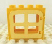 Lego Duplo Window Frame w/ pane Yellow w/ lt. yellow