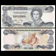 Bahamas 1/2 0.5 Dollar 50 Cents, 1974(84), P-42, UNC