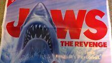 Vintage Jaws The Revenge Movie Poster 1980's Retro Shark Film Universal Horror