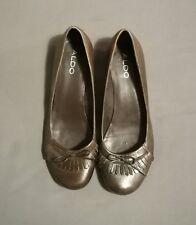 ALDO Pumps Schuhe Ballerinas *38 *Braun *Kleiner Absatz *Fransen & Zierschleife