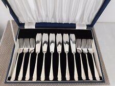 VINTAGE Case Set of Silver Plated Forks and knifes.