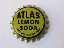 Old Beer Bottle Cap ~*~ ATLAS Bottling Co Lemon Soda Pop ~*~ Detroit, MICHIGAN