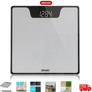 Duronic Body Scales BS303 | Measures Body Weight in Kilograms, Pounds and Stones