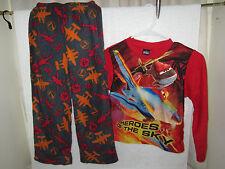 New Disney's Planes Fire & Rescue, Fleece Pajama Set, Boys Size 8. Free Shipping