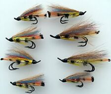 Salmon Flies YELLOW TORRISH Doubles sizes 4- 10 Pack of EIGHT (8) #167