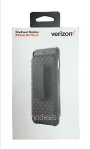 New OEM Verizon Shell Holster Belt Clip Combo With Kickstand For Apple iPhone 7